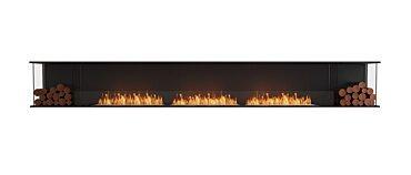 Flex 158BY.BX2 Bay Fireplace - Studio Image by EcoSmart Fire