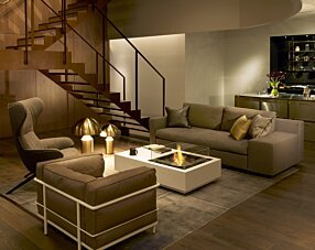 Private Residence - Manhattan 50 Fire Table by EcoSmart Fire