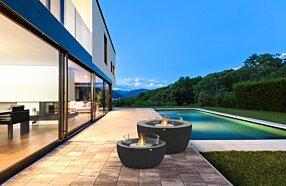 Outdoor Deck - Pod 40 Freestanding Fireplace by EcoSmart Fire