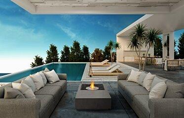 Manhattan 50 Modern Fireplace - In-Situ Image by EcoSmart Fire