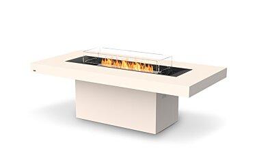 Gin 90 (Dining) Modern Fireplace - Studio Image by EcoSmart Fire