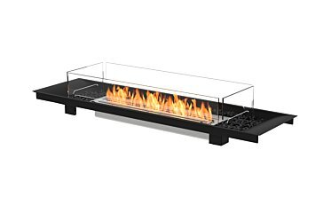 Linear Curved 65 Fire Pit Kit - Studio Image by EcoSmart Fire