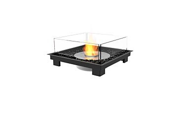 Square 22 Indoor Fireplace - Studio Image by EcoSmart Fire