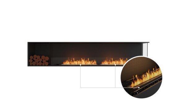Flex 104RC.BXL Right Corner - Ethanol - Black / Black / Installed View by EcoSmart Fire