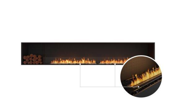 Flex 122SS.BXL Single Sided - Ethanol - Black / Black / Installed View by EcoSmart Fire
