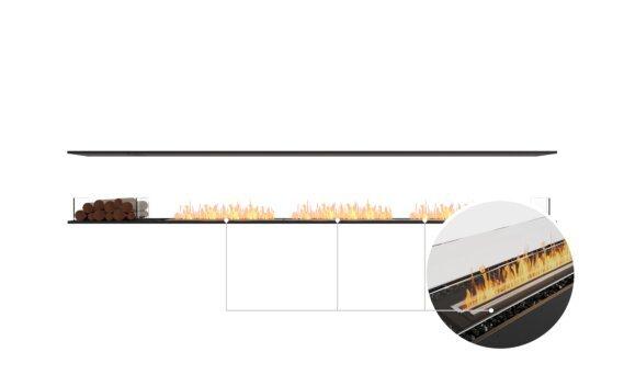 Flex 140IL.BX1 Island - Ethanol - Black / Black / Installed View by EcoSmart Fire