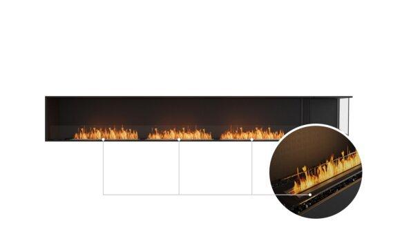 Flex 140RC.BXR Right Corner - Ethanol - Black / Black / Installed View by EcoSmart Fire