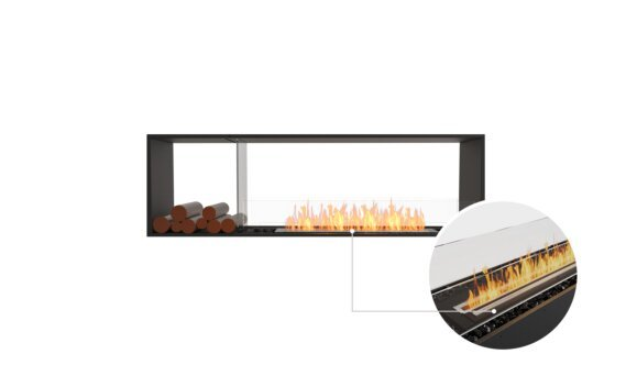 Flex 68DB.BX1 Double Sided - Ethanol - Black / Black / Installed View by EcoSmart Fire