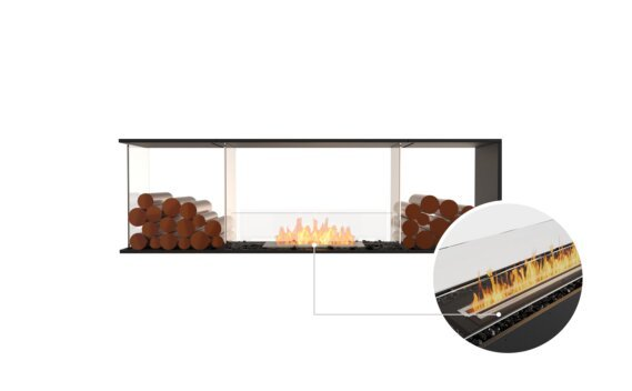 Flex 68PN.BX2 Peninsula - Ethanol - Black / Black / Installed View by EcoSmart Fire