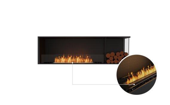 Flex 68RC.BXR Right Corner - Ethanol - Black / Black / Installed View by EcoSmart Fire