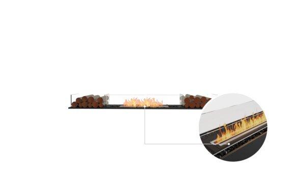 Flex 78BN.BX2 Bench - Ethanol - Black / Black / Installed View by EcoSmart Fire