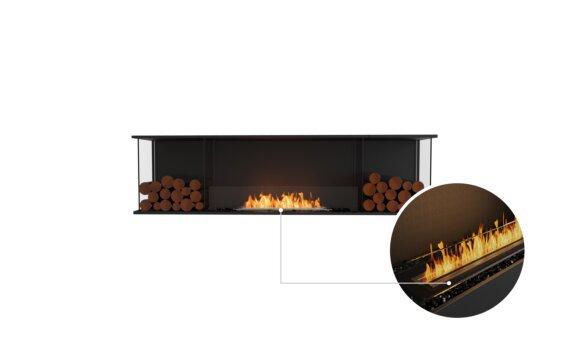 Flex 78 - Ethanol - Black / Black / Installed View by EcoSmart Fire