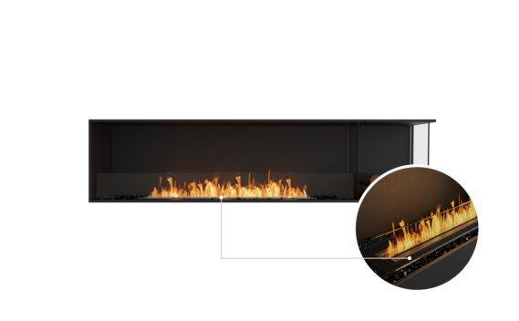 Flex 86RC.BXR Right Corner - Ethanol - Black / Black / Installed View by EcoSmart Fire