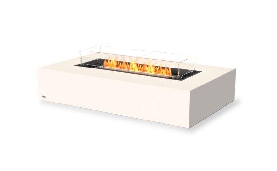 Wharf 65 Fire Table - Ethanol - Black / Bone / Optional Fire Screen by EcoSmart Fire