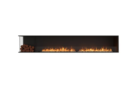 Flex 122LC.BXL Left Corner - Ethanol / Black / Installed View by EcoSmart Fire