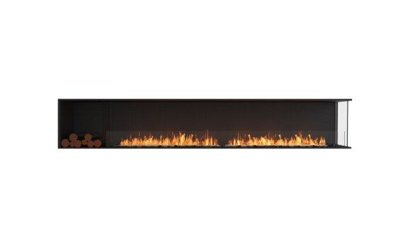 Flex 122RC.BXL Right Corner - Ethanol / Black / Installed View by EcoSmart Fire