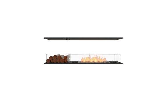 Flex 60IL.BX1 Island - Ethanol / Black / Installed View by EcoSmart Fire
