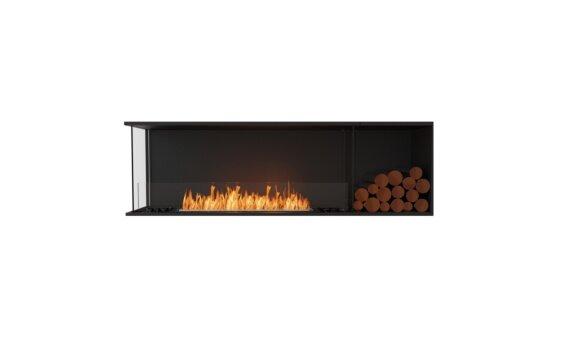 Flex 68LC.BXR Left Corner - Ethanol / Black / Installed View by EcoSmart Fire