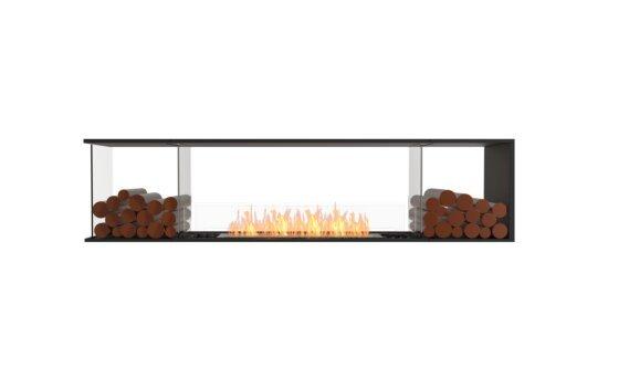 Flex 86PN.BX2 Peninsula - Ethanol / Black / Installed View by EcoSmart Fire