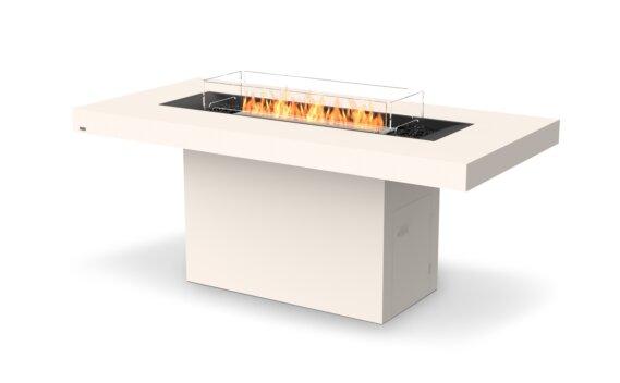 Gin 90 (Bar) Fire Table - Ethanol / Bone / Optional Fire Screen by EcoSmart Fire