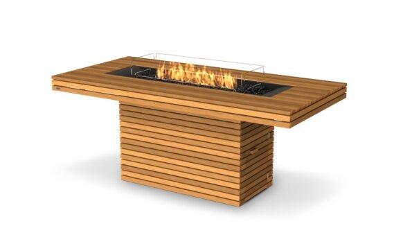 Gin 90 (Bar) Fire Table - Gas LP/NG / Teak by EcoSmart Fire