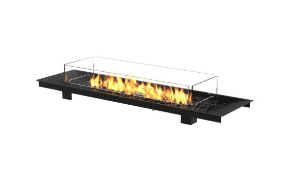 Linear Curved 65 Fire Pit Kit - Gas LP/NG / Black by EcoSmart Fire