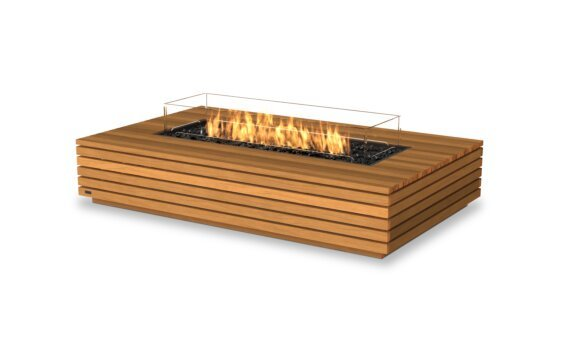 Wharf 65 Fire Table - Gas LP/NG / Teak by EcoSmart Fire