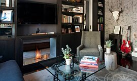 New York Loft See-Through Fireplaces Fireplace Insert Idea