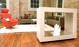 Jacksons Landing See-Through Fireplaces Designer Fireplace Idea