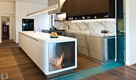 Celebrity Chef's Kitchen Indoor Fireplaces Fireplace Insert Idea