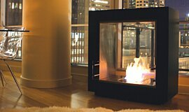 5th Madison - Private Residence Indoor Fireplaces Designer Fireplace Idea