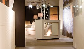 Milan Fair See-Through Fireplaces Designer Fireplace Idea
