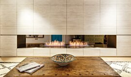 Fujiya Mansions See-Through Fireplaces Ethanol Burner Idea