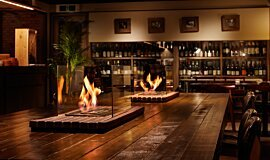 Restaurant La Cave Indoor Fireplaces Ethanol Burner Idea