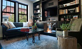 New York Loft Indoor Fireplaces Fireplace Insert Idea