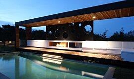 Portsea Private Pool Pavilion Landscape Fireplaces Ethanol Burner Idea