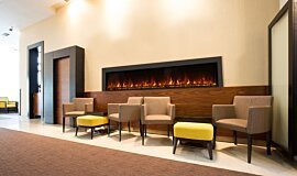Lobby Indoor Fireplaces Fireplace Insert Idea