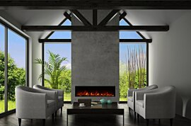 EL60 Wall Mounted Fireplace - In-Situ Image by EcoSmart Fire