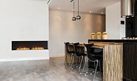 Kitchen Area Indoor Fireplaces Flex Fireplace Idea