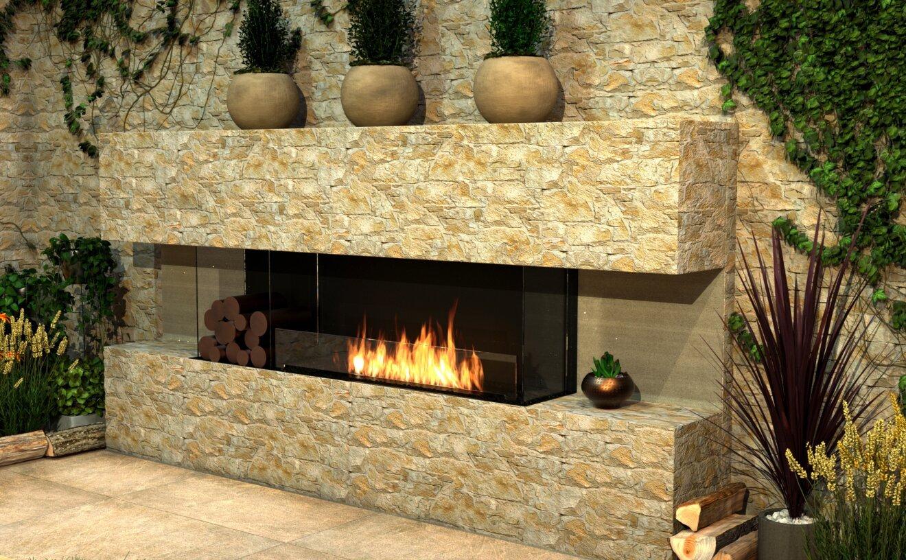 Flex 78BY.BX2 Flex Fireplace - Studio Image by EcoSmart Fire