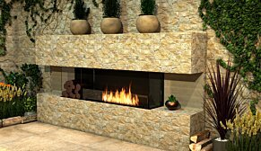 Flex 86BY.BX2 Flex Fireplace - In-Situ Image by EcoSmart Fire