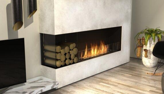 Living Room - Flex 68LC.BXL Flex Fireplace by EcoSmart Fire