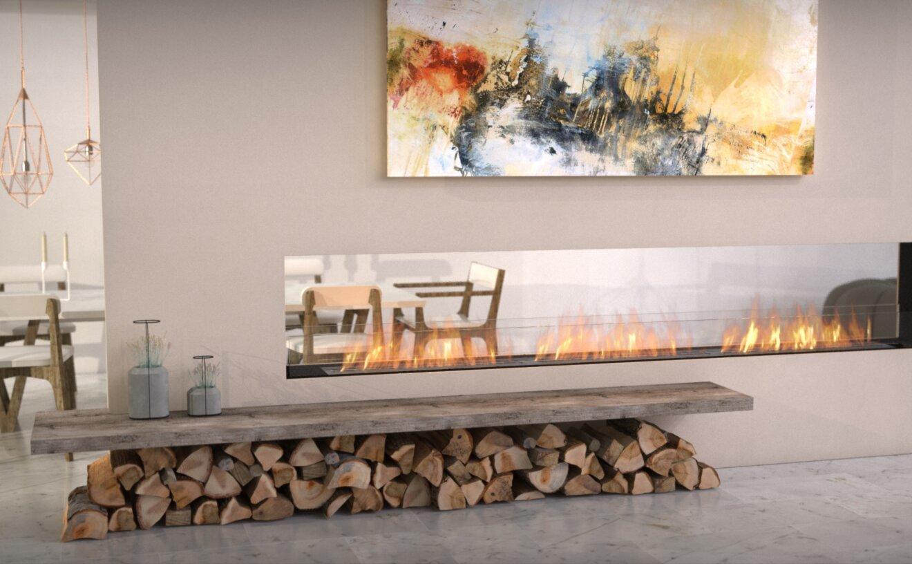 Flex 122DB Flex Fireplace - Studio Image by EcoSmart Fire