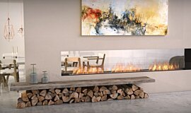 Lounge Area See-Through Fireplaces Flex Fireplace Idea