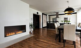 Dining Area Indoor Fireplaces Flex Fireplace Idea