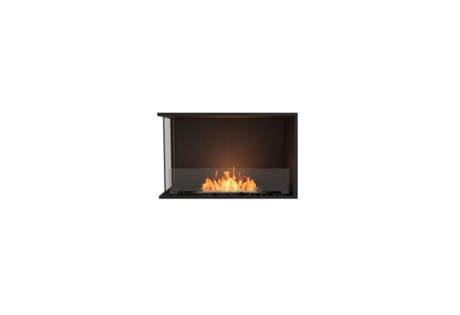 Flex 32LC Left Corner - Ethanol / Black / Installed View by EcoSmart Fire