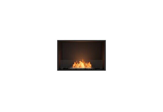 Flex 32SS Flex Fireplace - Ethanol / Black / Installed View by EcoSmart Fire