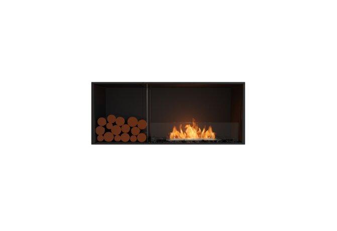 Flex 50SS.BXL Flex Fireplace - Ethanol / Black / Installed View by EcoSmart Fire