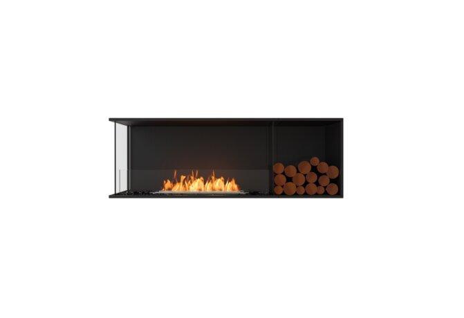 Flex 60LC.BXR Flex Fireplace - Ethanol / Black / Installed View by EcoSmart Fire