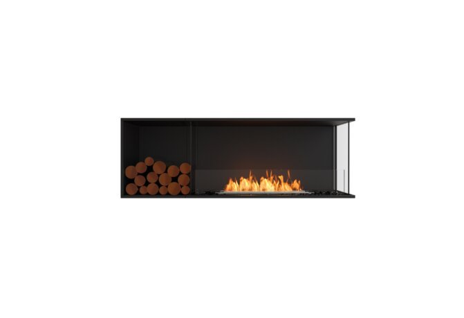 Flex 60RC.BXL Flex Fireplace - Ethanol / Black / Installed View by EcoSmart Fire